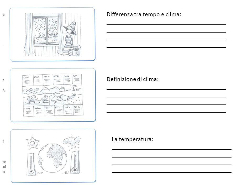 Differenza tra tempo e clima: