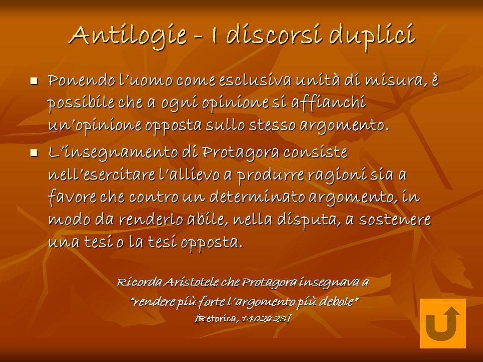 Antilogie - I discorsi duplici