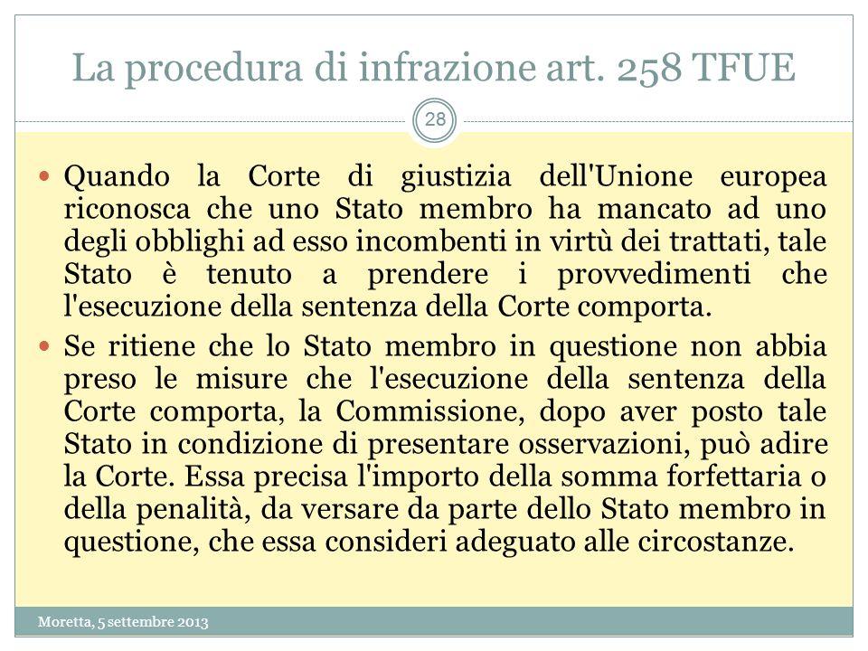 La procedura di infrazione art. 258 TFUE