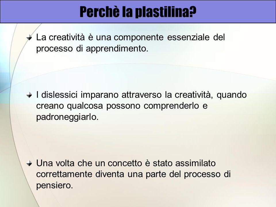 Perchè la plastilina La creatività è una componente essenziale del processo di apprendimento.