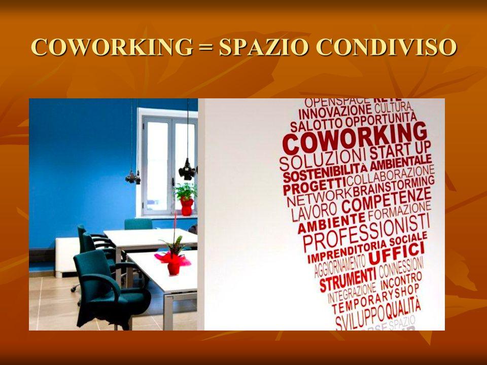 COWORKING = SPAZIO CONDIVISO