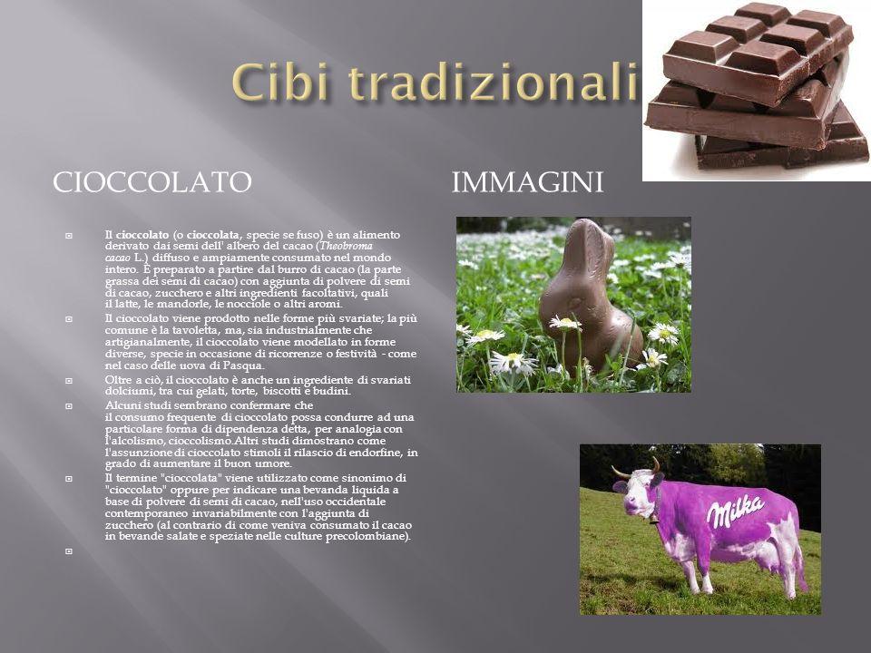 Cibi tradizionali cioccolato immagini