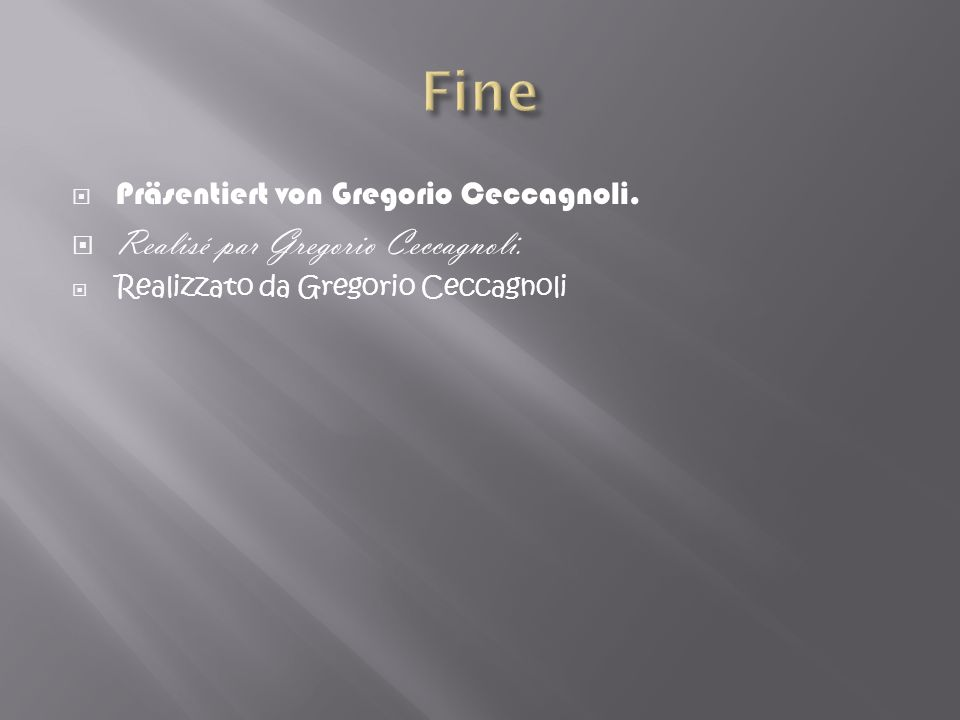 Fine Realisé par Gregorio Ceccagnoli.
