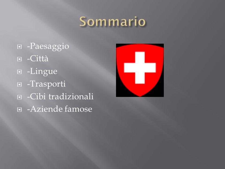 Sommario -Paesaggio -Città -Lingue -Trasporti -Cibi tradizionali