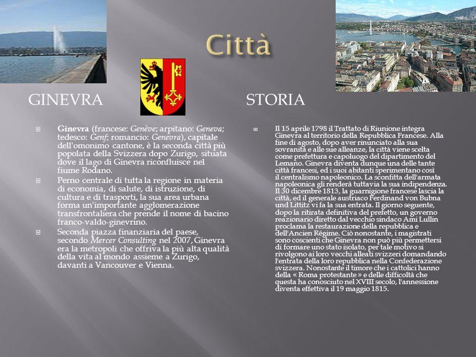 Città Ginevra. storia.