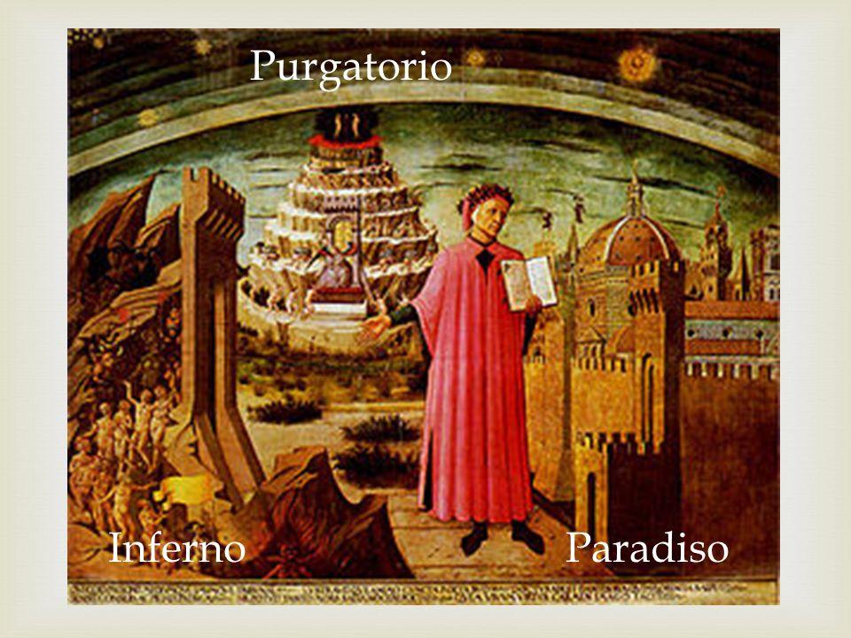 Purgatorio Inferno Paradiso