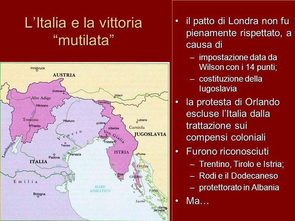 L'Italia e la vittoria mutilata