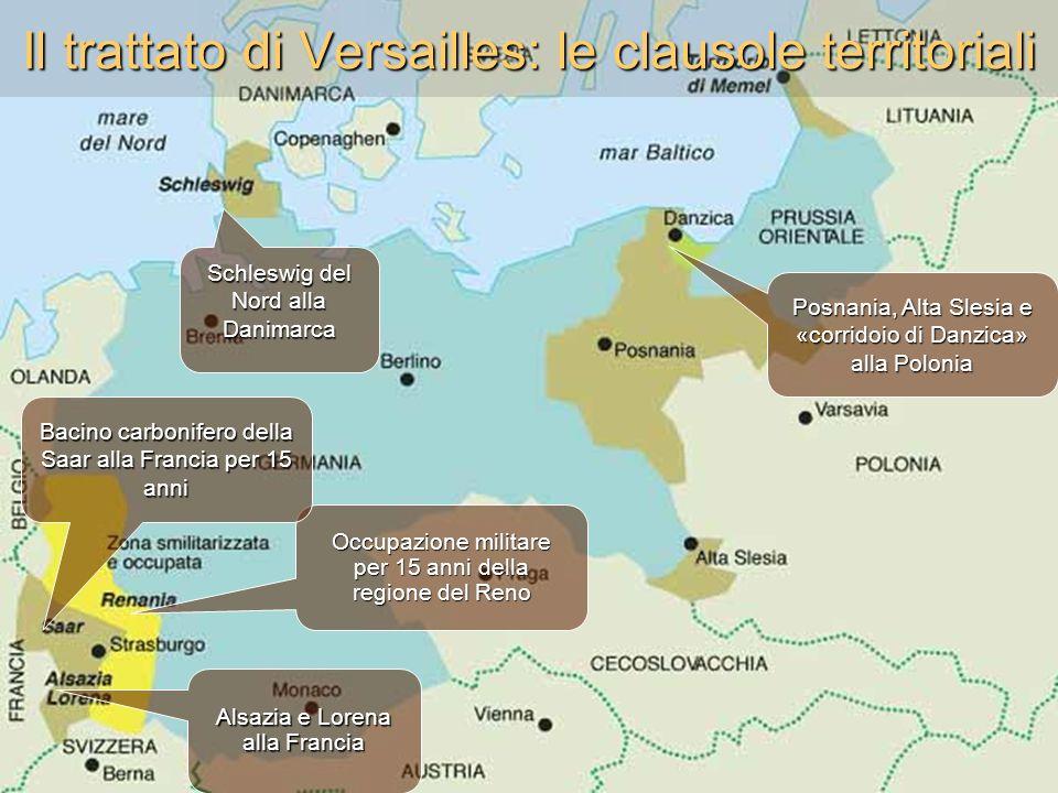 Il trattato di Versailles: le clausole territoriali