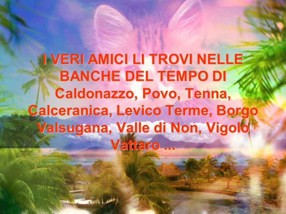 I VERI AMICI LI TROVI NELLE BANCHE DEL TEMPO DI Caldonazzo, Povo, Tenna, Calceranica, Levico Terme, Borgo Valsugana, Valle di Non, Vigolo Vattaro ...