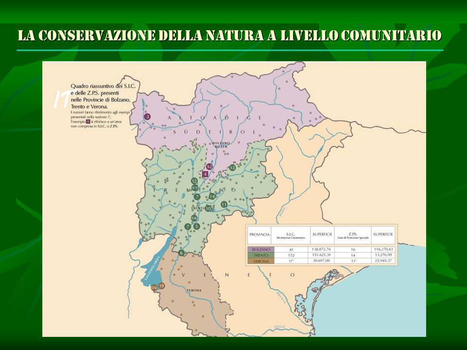 La conservazione della natura a livello comunitario