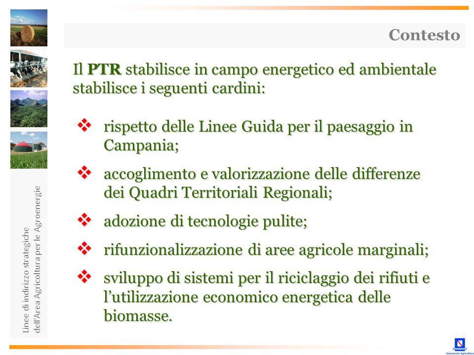 rispetto delle Linee Guida per il paesaggio in Campania;