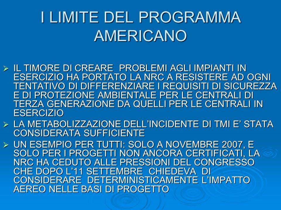 I LIMITE DEL PROGRAMMA AMERICANO