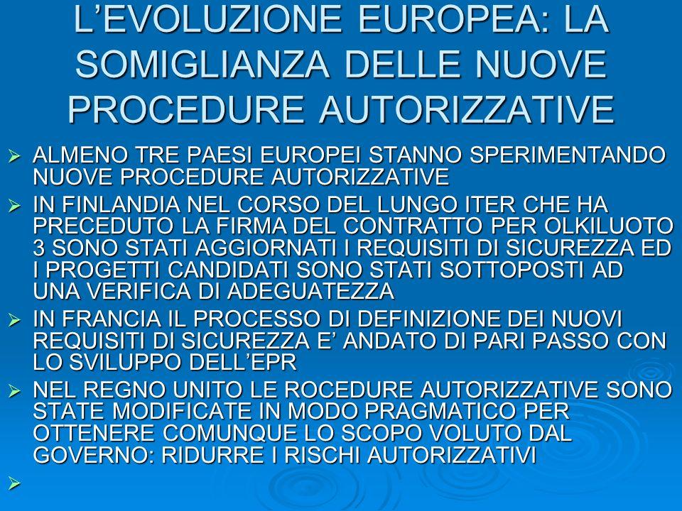 L'EVOLUZIONE EUROPEA: LA SOMIGLIANZA DELLE NUOVE PROCEDURE AUTORIZZATIVE