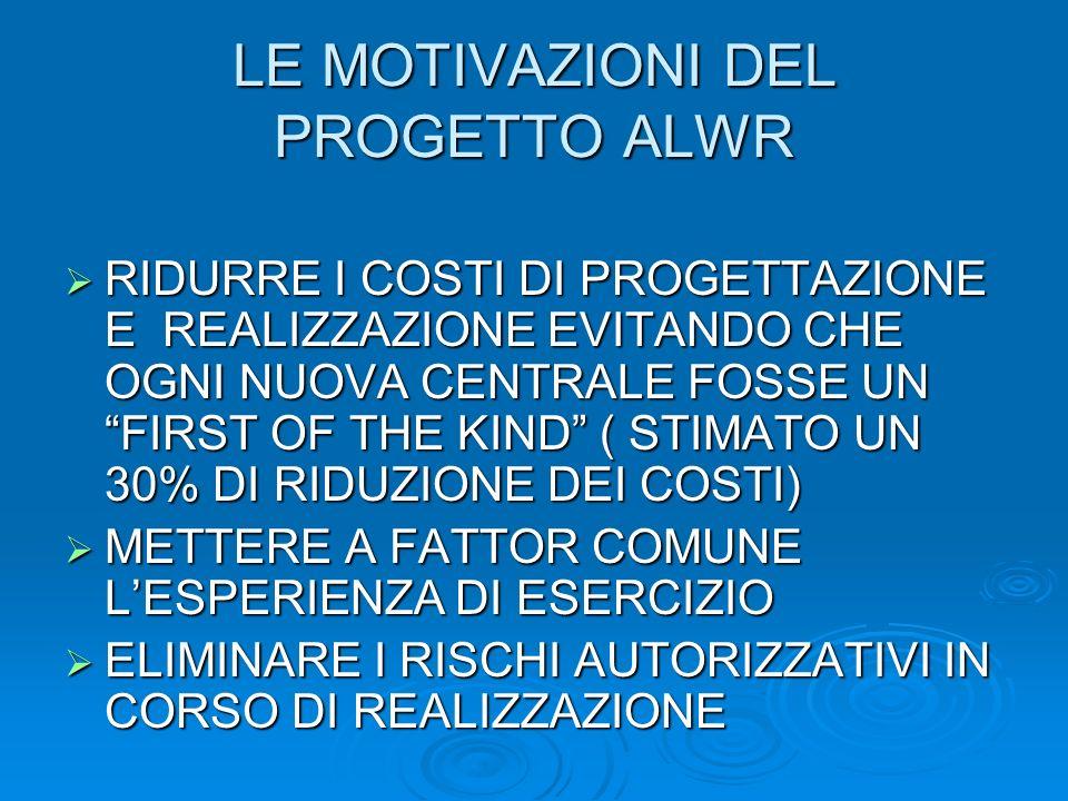 LE MOTIVAZIONI DEL PROGETTO ALWR