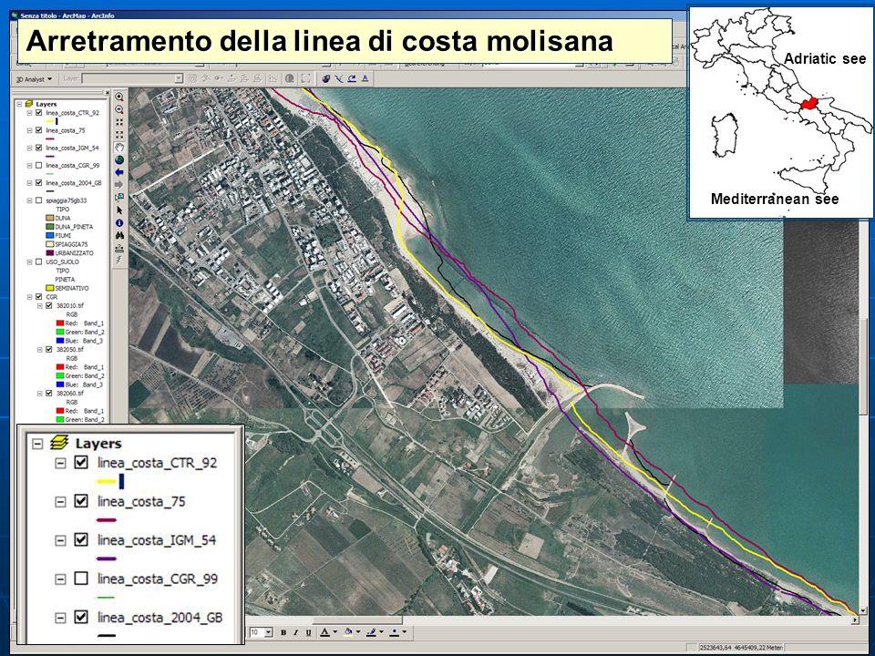 Arretramento della linea di costa molisana