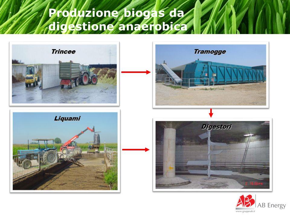 Produzione biogas da digestione anaerobica