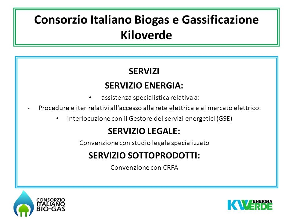 Consorzio Italiano Biogas e Gassificazione Kiloverde