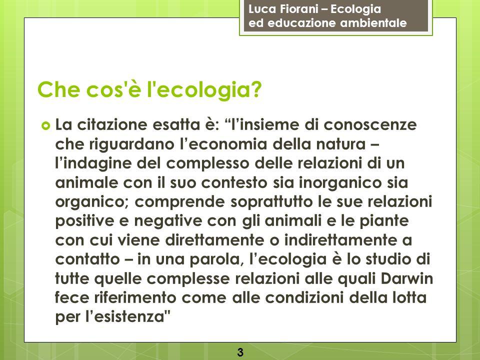 Che cos è l ecologia