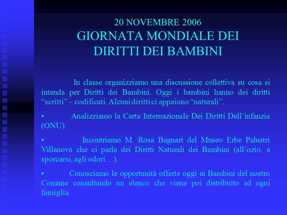 20 NOVEMBRE 2006 GIORNATA MONDIALE DEI DIRITTI DEI BAMBINI