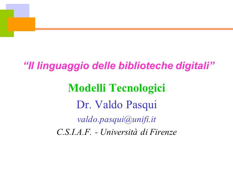 Il linguaggio delle biblioteche digitali