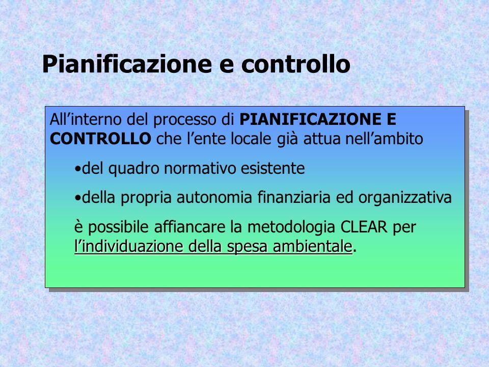 Pianificazione e controllo