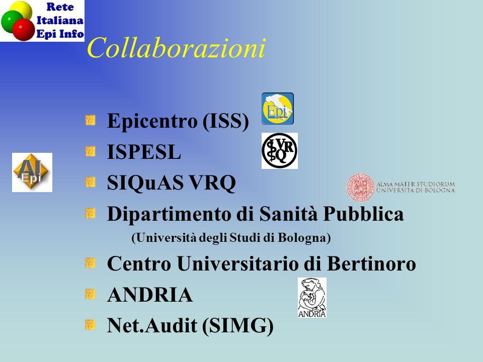 Collaborazioni Epicentro (ISS) ISPESL SIQuAS VRQ