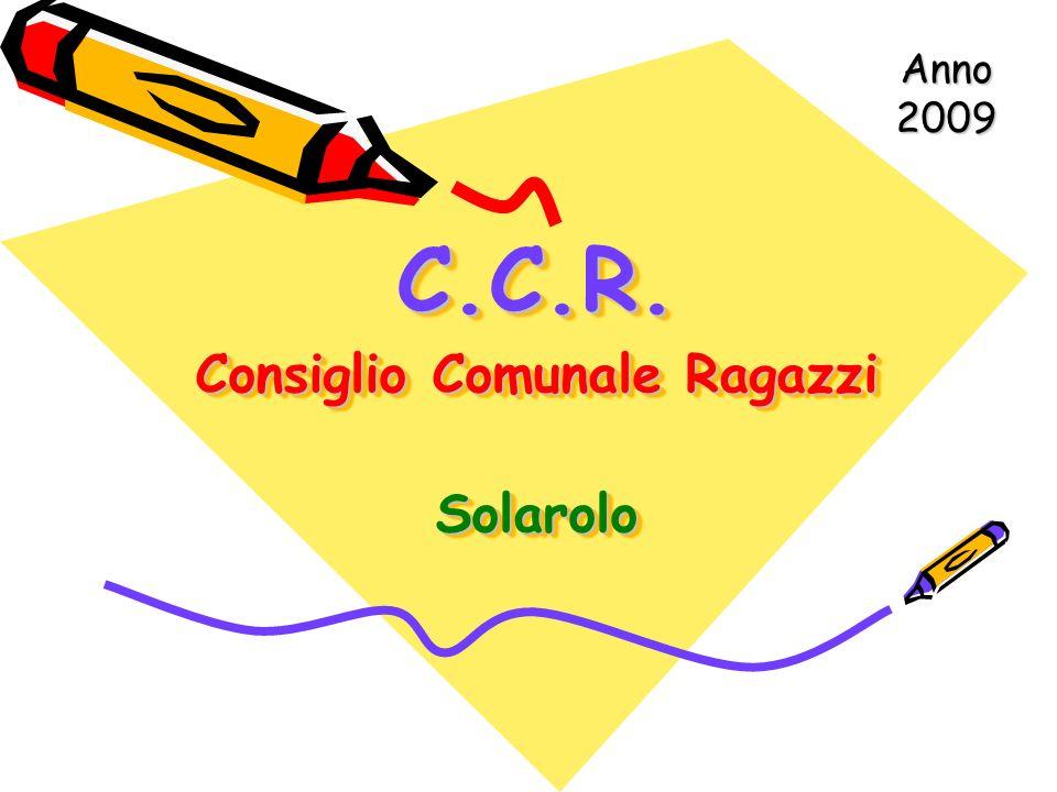 C.C.R. Consiglio Comunale Ragazzi Solarolo