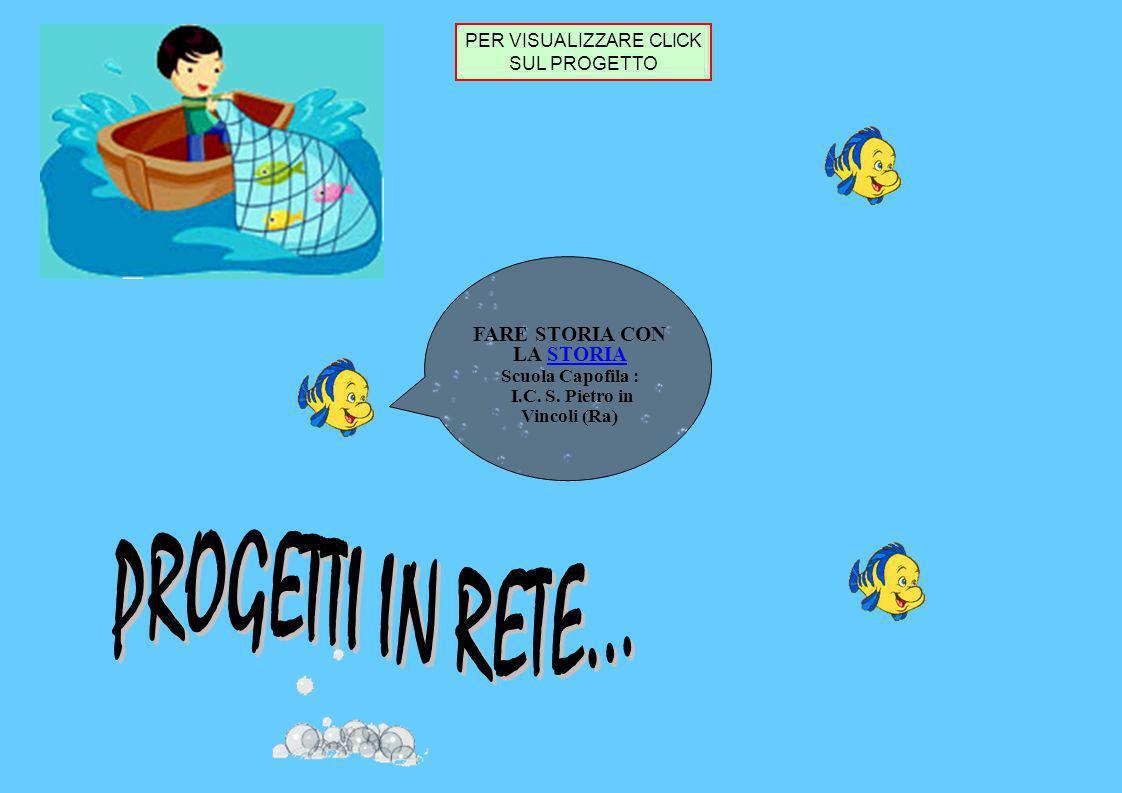 PROGETTI IN RETE... FARE STORIA CON LA STORIA Scuola Capofila :
