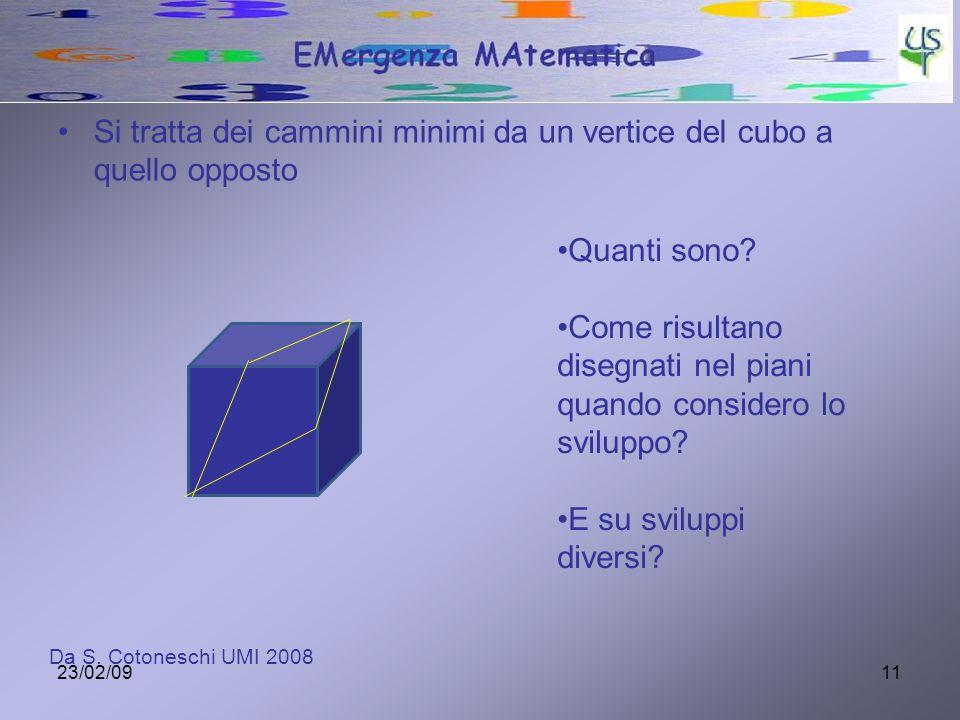 Si tratta dei cammini minimi da un vertice del cubo a quello opposto