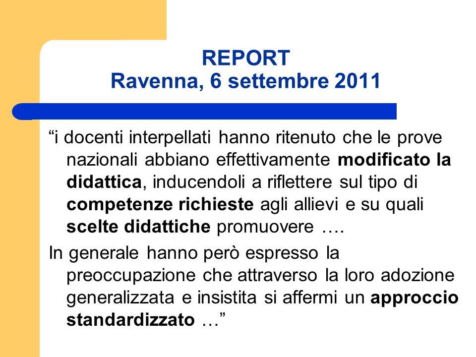REPORT Ravenna, 6 settembre 2011