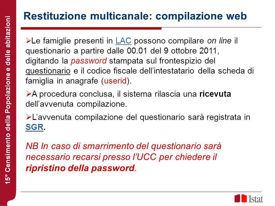 Restituzione multicanale: compilazione web