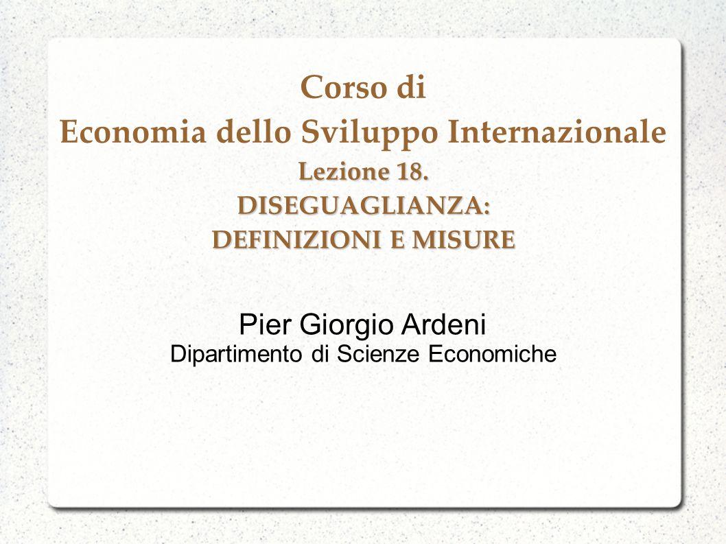 Pier Giorgio Ardeni Dipartimento di Scienze Economiche