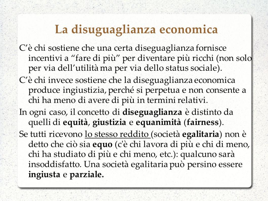 La disuguaglianza economica