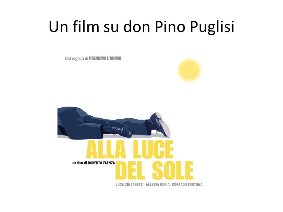 Un film su don Pino Puglisi