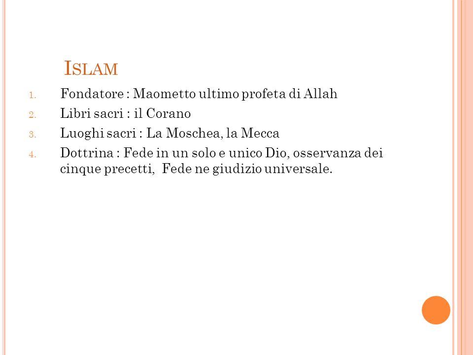 Islam Fondatore : Maometto ultimo profeta di Allah
