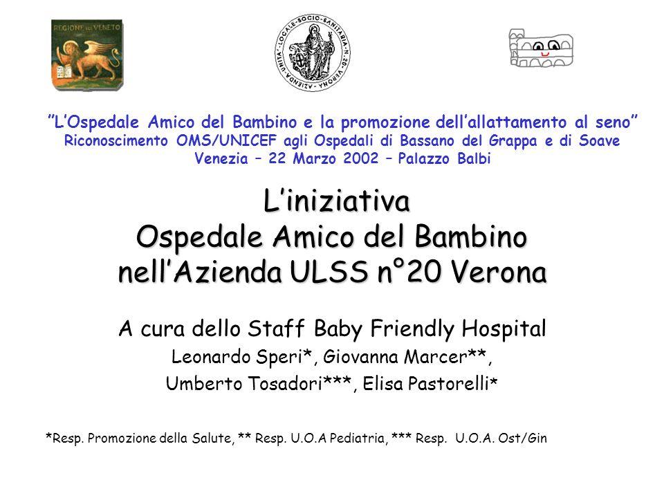 L'iniziativa Ospedale Amico del Bambino nell'Azienda ULSS n°20 Verona