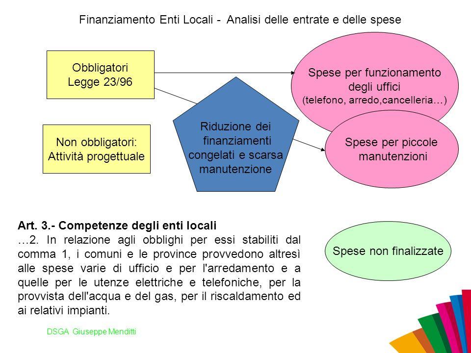 Finanziamento Enti Locali - Analisi delle entrate e delle spese