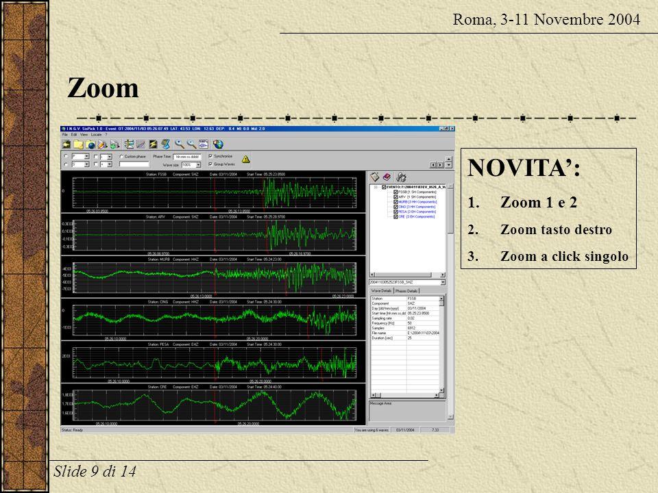 Zoom NOVITA': Roma, 3-11 Novembre 2004 Zoom 1 e 2 Slide 9 di 14