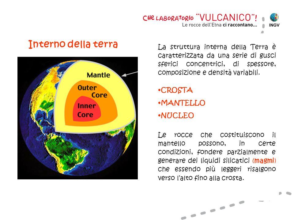 La struttura interna della Terra è caratterizzata da una serie di gusci sferici concentrici, di spessore, composizione e densità variabili.