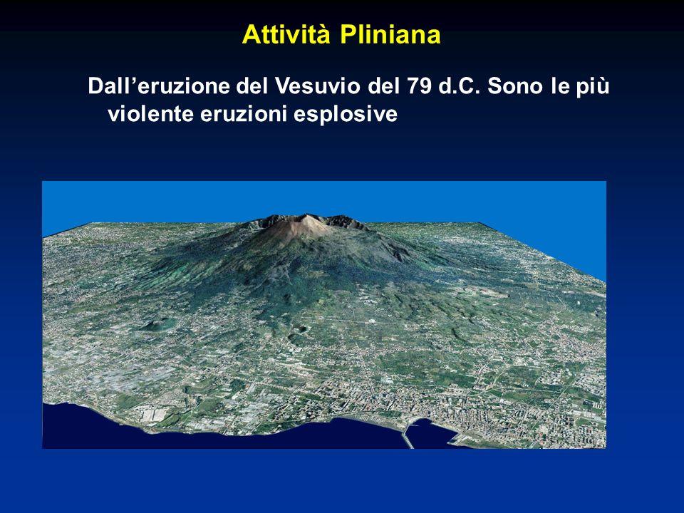 Attività Pliniana Dall'eruzione del Vesuvio del 79 d.C. Sono le più violente eruzioni esplosive