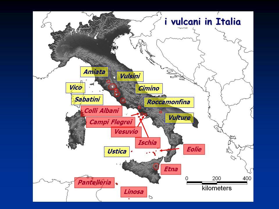 i vulcani in Italia Amiata Vulsini Vico Cimino Sabatini Roccamonfina
