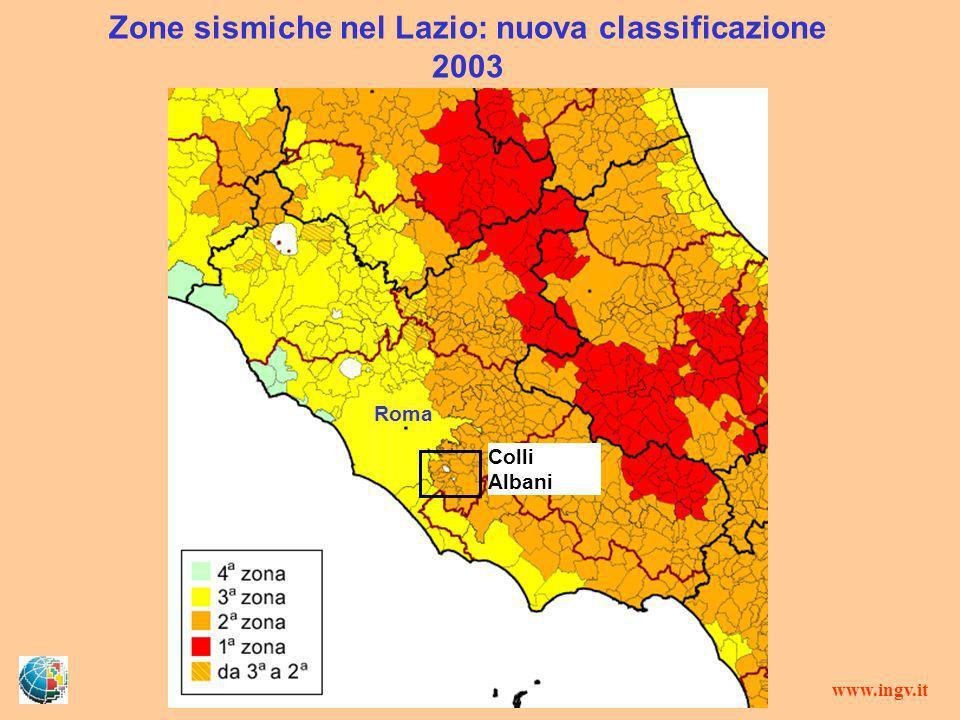 Zone sismiche nel Lazio: nuova classificazione 2003