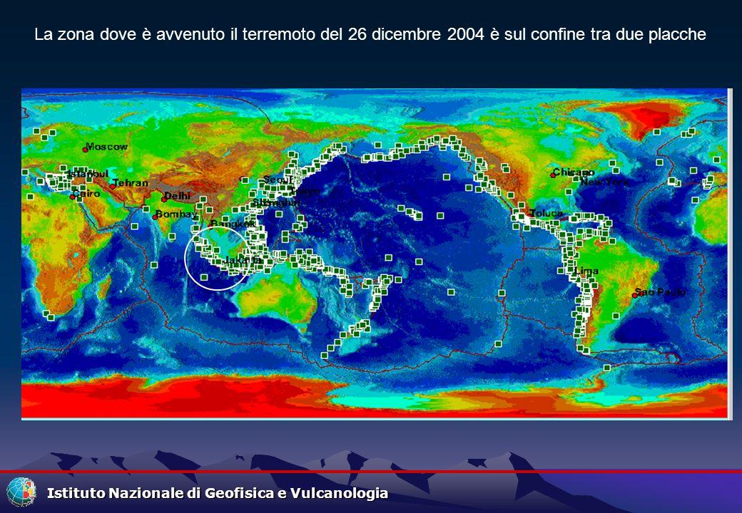 La zona dove è avvenuto il terremoto del 26 dicembre 2004 è sul confine tra due placche
