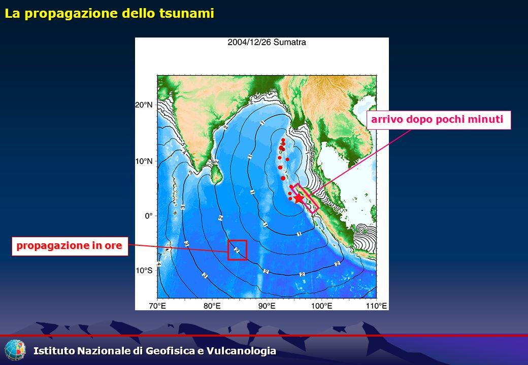 La propagazione dello tsunami
