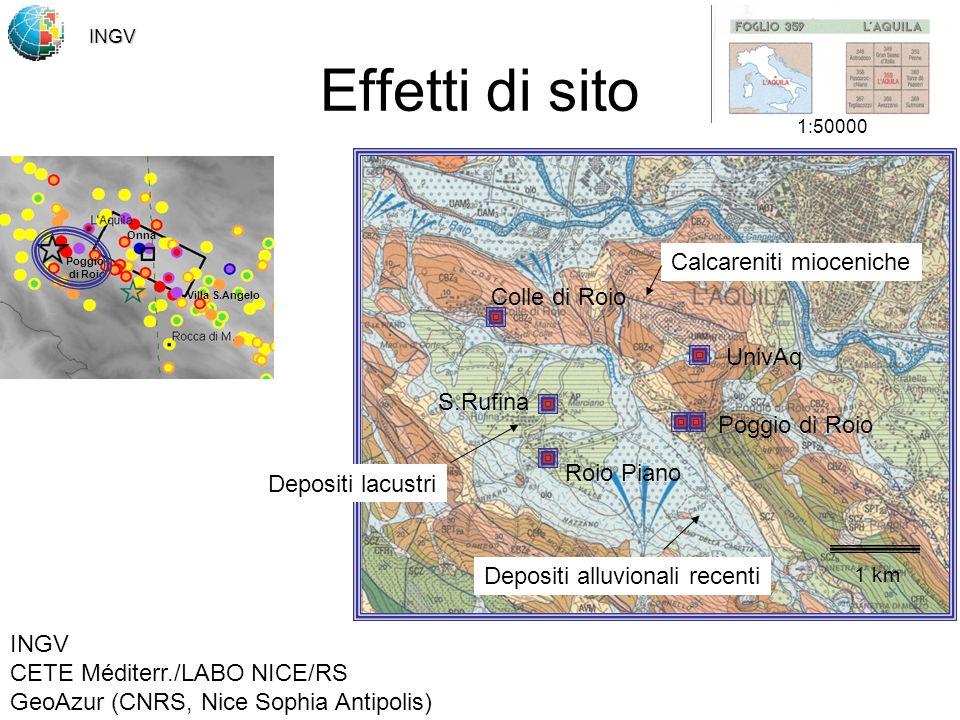 Effetti di sito Calcareniti mioceniche Colle di Roio UnivAq S.Rufina