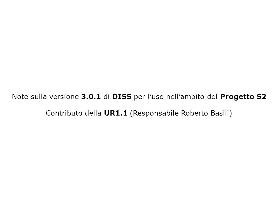 Contributo della UR1.1 (Responsabile Roberto Basili)