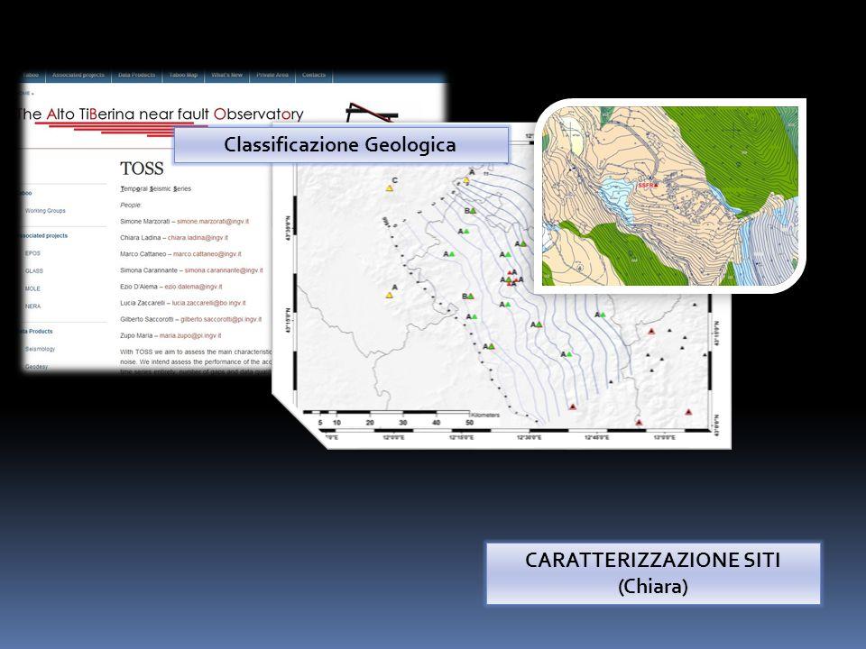 Classificazione Geologica CARATTERIZZAZIONE SITI