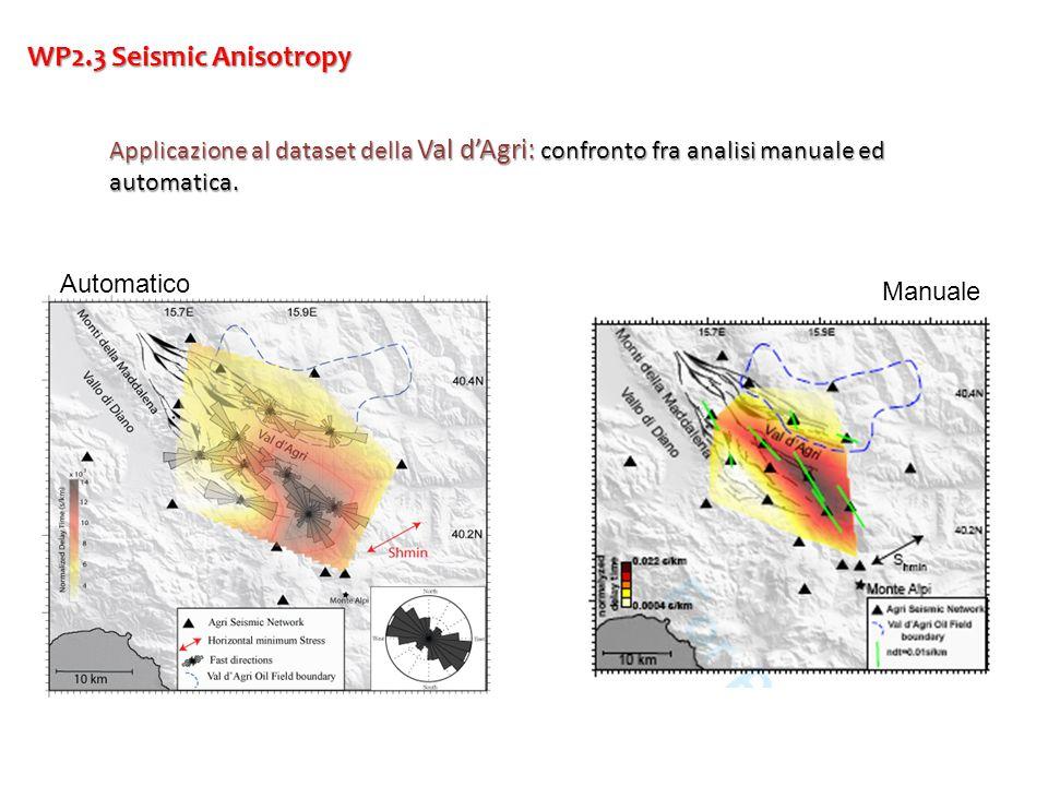 WP2.3 Seismic Anisotropy Applicazione al dataset della Val d'Agri: confronto fra analisi manuale ed automatica.
