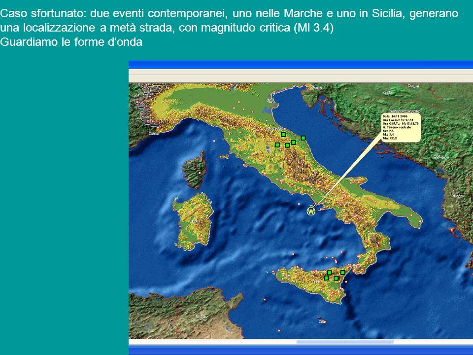 Caso sfortunato: due eventi contemporanei, uno nelle Marche e uno in Sicilia, generano