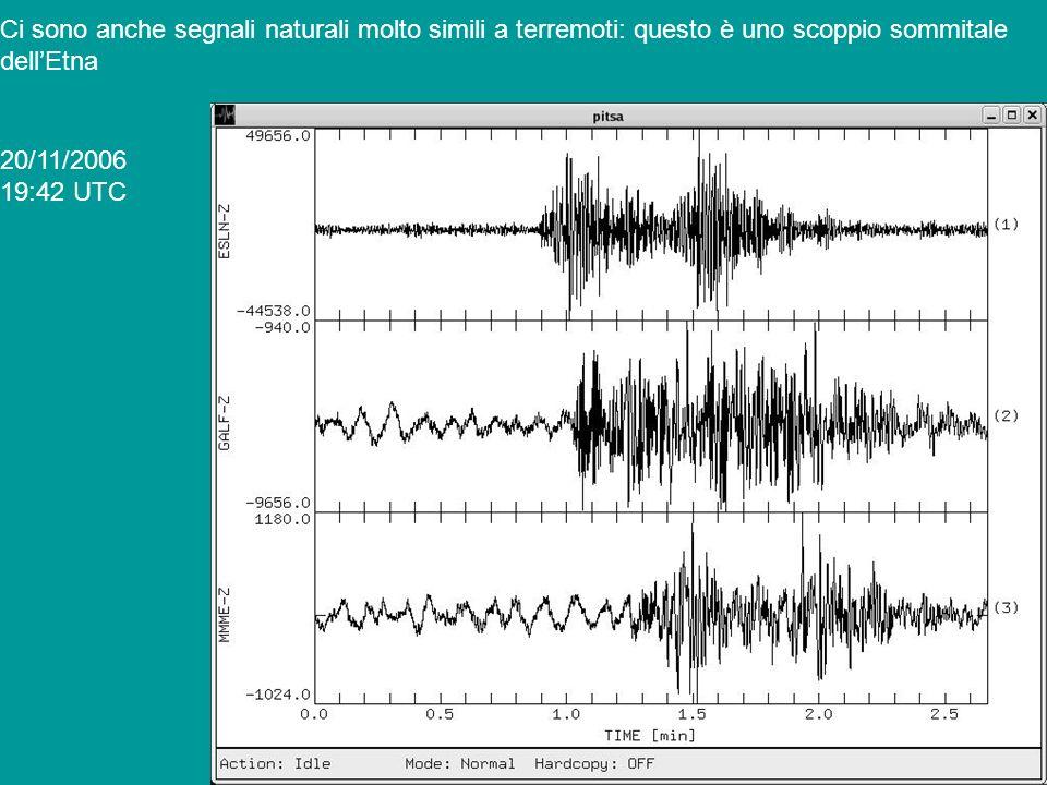 Ci sono anche segnali naturali molto simili a terremoti: questo è uno scoppio sommitale
